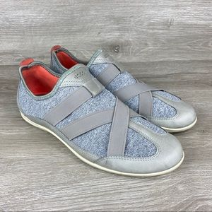Ecco Bluma Wild Dove Slip On Gray Shoes Size 8/8.5